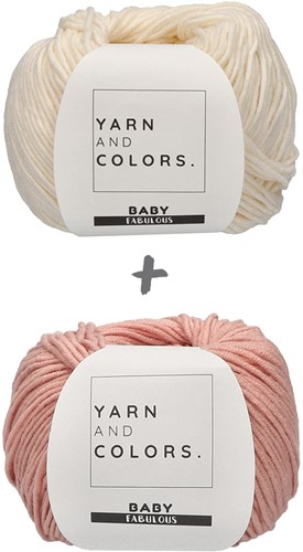 Yarn and Colors Classic Jumper Crochet Kit 1 Old Pink M