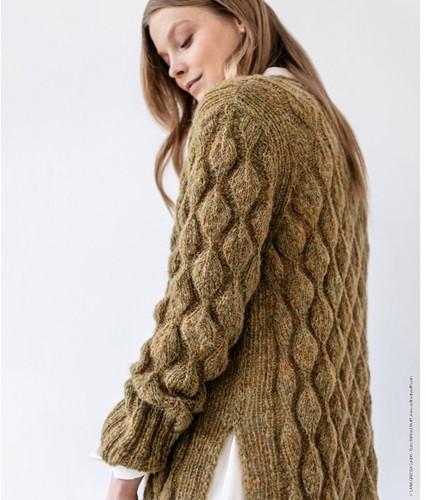 Knitting Pattern Nuvoletta Long Cardigan