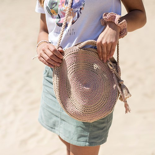 Crochet Pattern Round Bag with Bag Charm