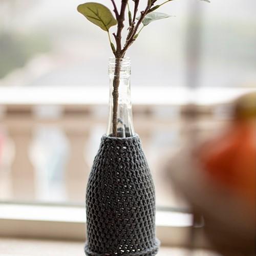 Home-Deco Bottle Cover Crochet Kit 2 Farmhouse