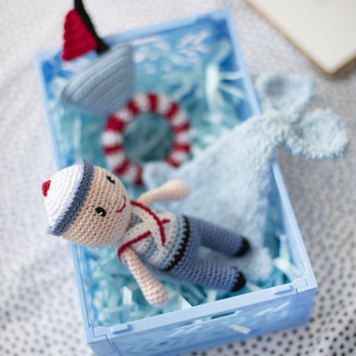 Mom To Be Set Blue Sailor Crochet Kit