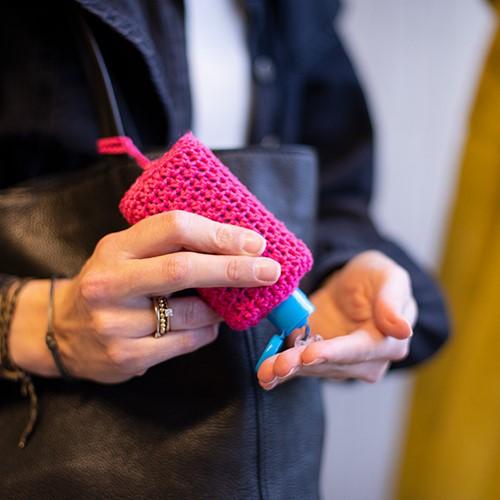Crochet Pattern Hand Gel Cover