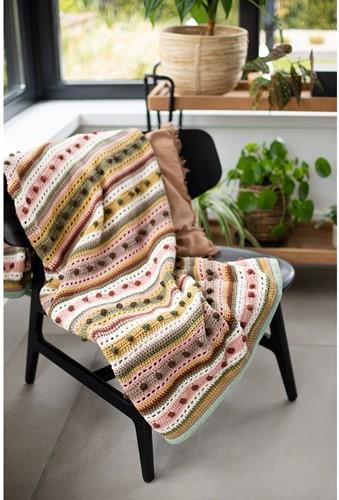 Crochet Pattern Striped Dot Blanket