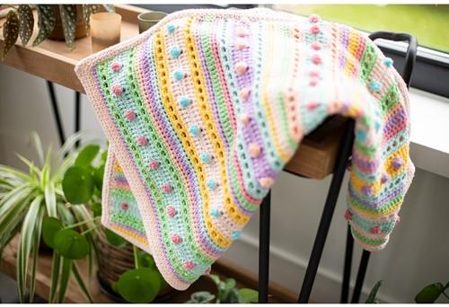 Striped Dot Baby Blanket Crochet Kit