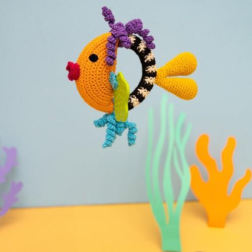 Fish Rattle Crochet Kit 3 Colorful