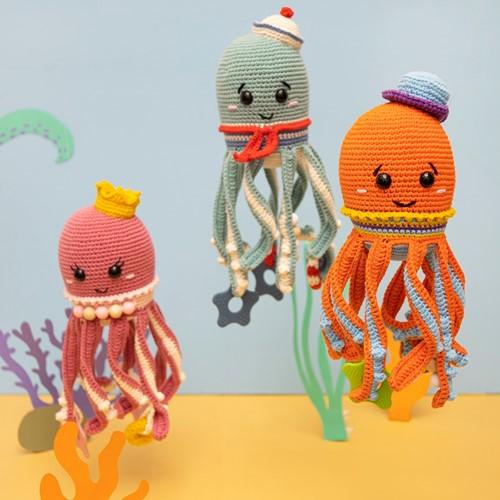 Crochet Pattern Squid Sensory Toy
