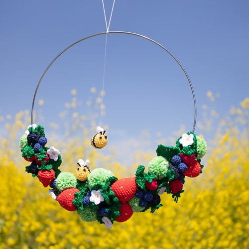 Crochet Pattern Summer Wreath