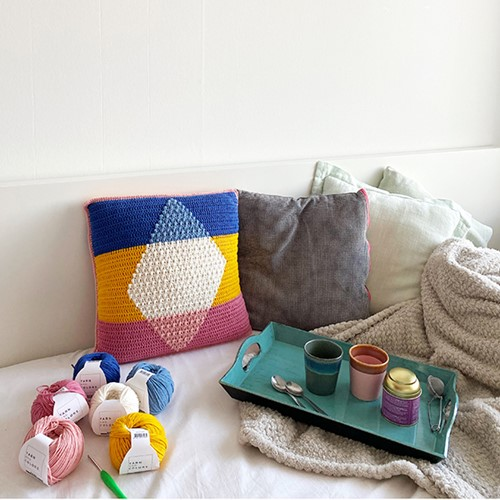 Hip to be Square Cushion Crochet Kit