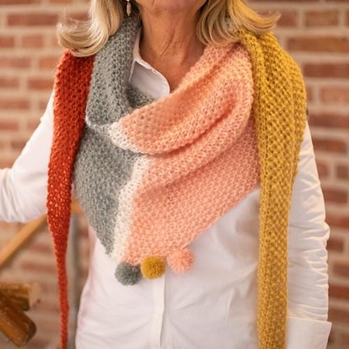 Knitting Pattern Bea Triangular Scarf