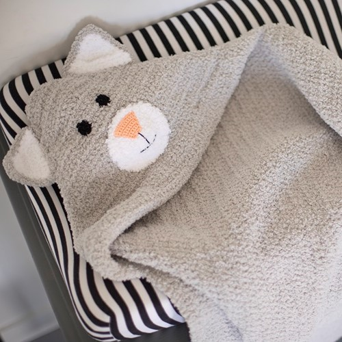 Yarnplaza Swaddle Blanket Cat Crochet Kit