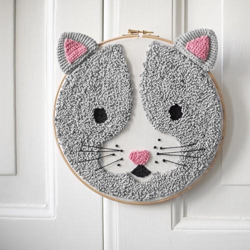 Punch Needle Pattern Yarnplaza Cat