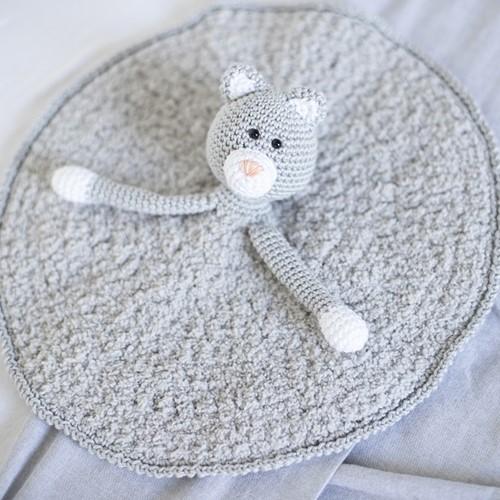 Crochet Pattern Yarnplaza Comfort Blanket Cat