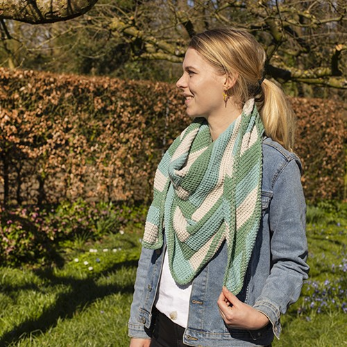 Crochet Pattern Tunisian Spring Scarf