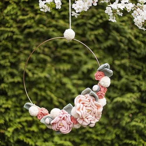 Flower Wreath Crochet Kit