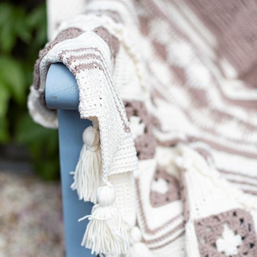 Summer Dream Blanket 4.0 Crochet Kit 1 Cream & Clay