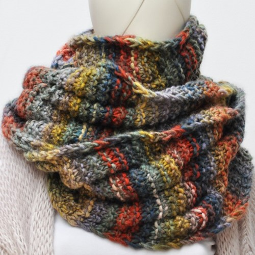 Knitting Pattern Inca Cable Snood