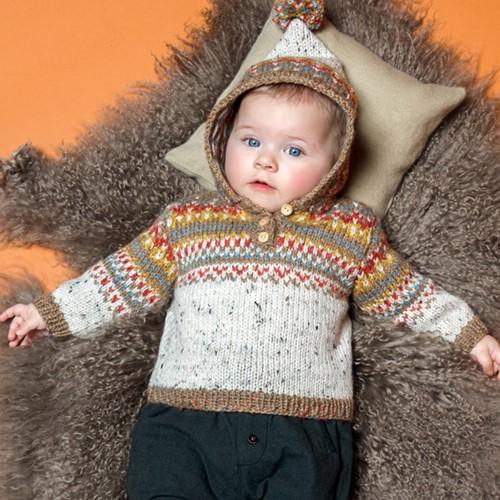 Knitting Pattern Jacquard Baby Sweater