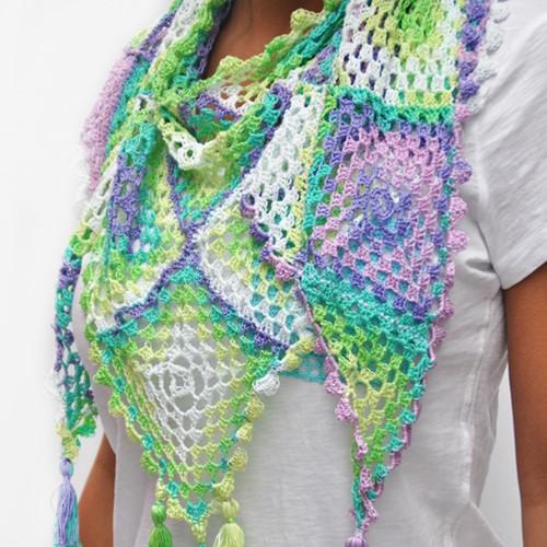 Crochet pattern Jaipur summer scarf