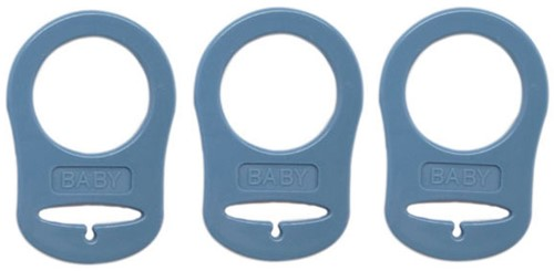 Silicone Pacifier Rings 13 Jeans Blue
