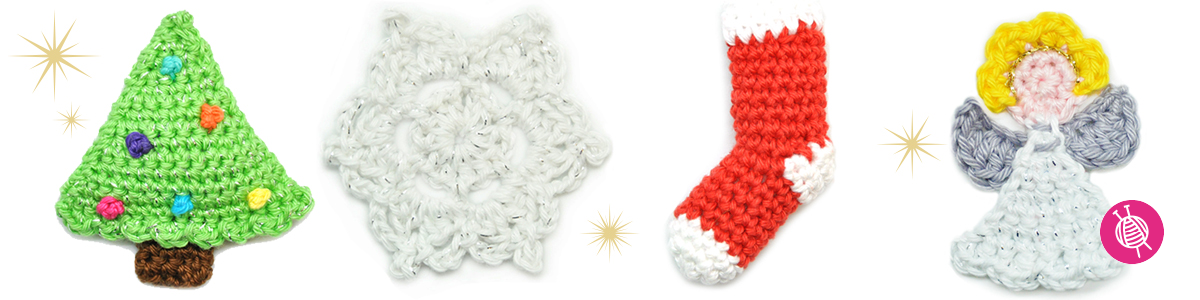 Crochet your own Christmas cards