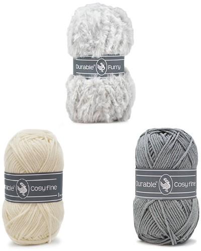 Alpaca Almina Crochet Kit 1 Grey
