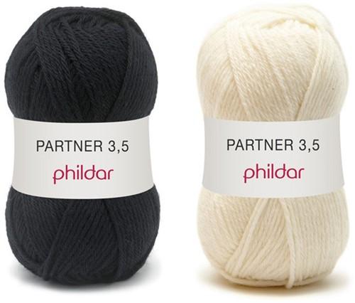 Partner 3.5 stripe sweater crochet kit 2 - 34/36