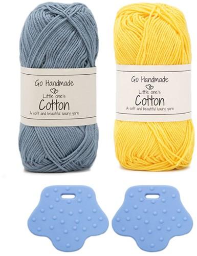 Go Handmade Duck with Backpack Crochet Kit 2 Blue