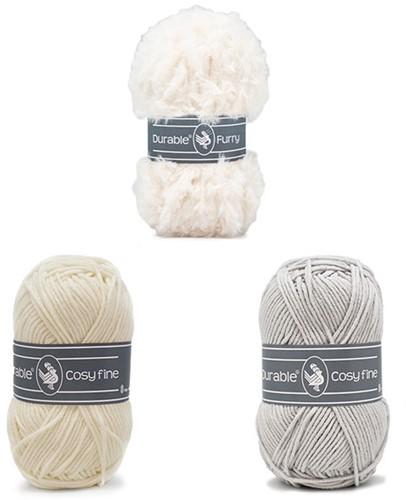 Alpaca Almina Crochet Kit 2 White