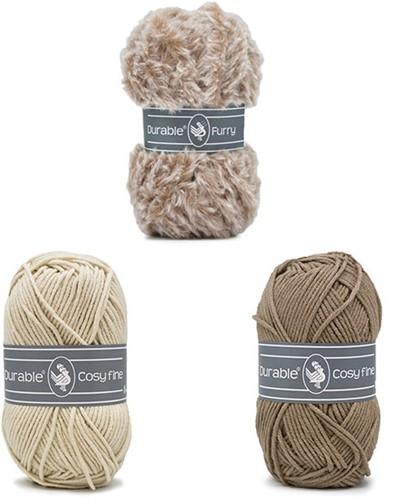 Alpaca Almina Crochet Kit 3 Brown