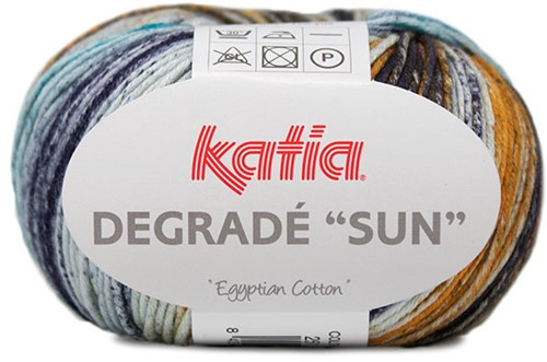 Degradé Sun Cardigan Crochet Kit 1 50/52 Blue / Red