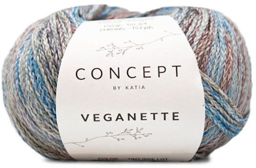 Veganette Kids Cardigan Knitting Kit 1 8 years Wine Red / Stone Grey / Blue