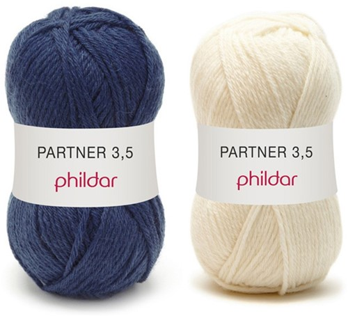 Partner 3.5 stripe sweater crochet kit 1 - 50/52