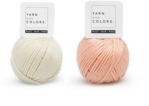 Yarn and Colors Mini Malistic WOW! Wall Hanging Kit 042 Cream / Peach