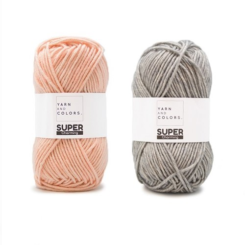 Yarn and Colors Double Trouble WOW! Wall Hanging Kit 042 Shadow / Peach