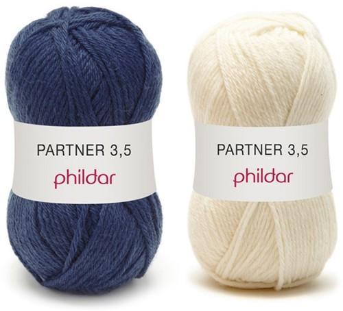 Partner 3.5 stripe sweater crochet kit 1 - 34/36