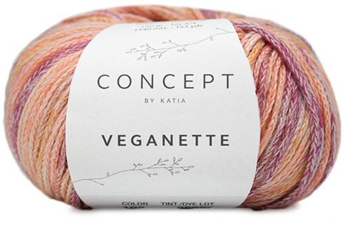 Veganette Kids Cardigan Knitting Kit 2 12 years Rose-Wine / Red-Ochre
