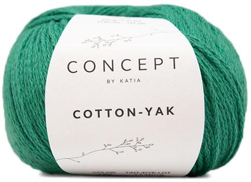 Cotton-Yak Girls Cardigan Knitting Kit 2 2 years Green
