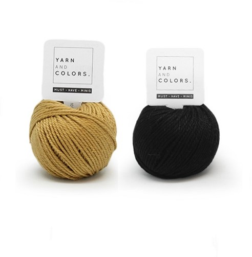 Yarn and Colors Mini Malistic WOW! Wall Hanging Kit 089 Gold / Black