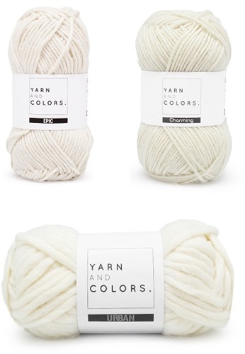 Yarn and Colors Three is a Charm WOW! Wall Hanging Kit 091 Cream