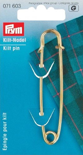 Prym Kilt pin gold 76mm