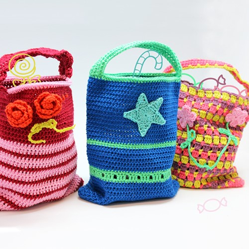 Crochet pattern children bags