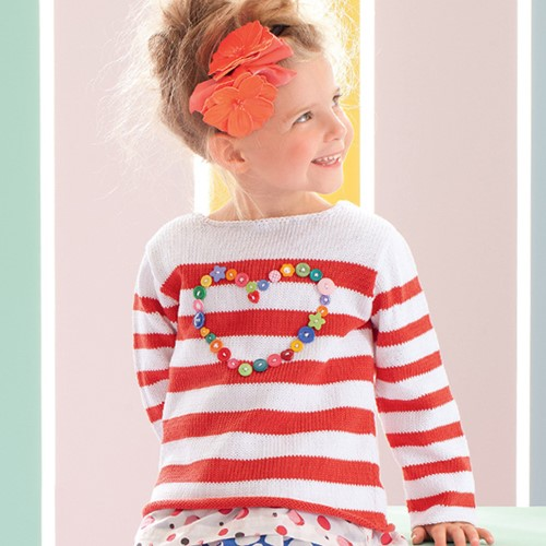 Knitting Pattern Childrens' Sweater Heart