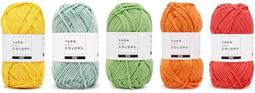 Yarnplaza Rainbow Cushion Crochet Kit 1 Pastel