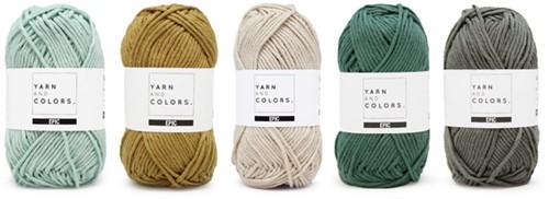 Yarnplaza Rainbow Cushion Crochet Kit 2 Vintage green