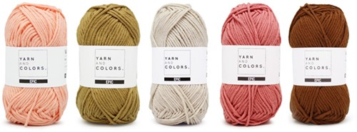 Yarnplaza Rainbow Cushion Crochet Kit 3 Vintage pink