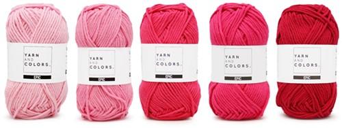 Yarnplaza Rainbow Cushion Crochet Kit 4 Girly