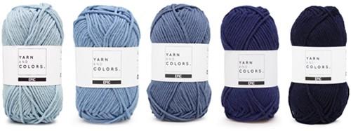 Yarnplaza Rainbow Cushion Crochet Kit 5 Cloudy