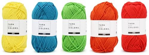 Yarnplaza Rainbow Rug Crochet Kit 6 Colorful