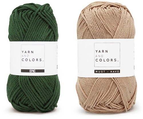 Yarn and Colors Shower Pouf Crochet Kit 088 Forest