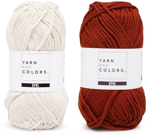 Yarn and Colors Striped Jumper Reversed Knitting Kit 6 L Chestnut